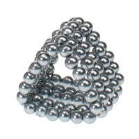 Chrome Finished Plastic 5 Row Stroker Beads