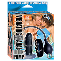 Black Inflatable Vibrating Anal Balloon