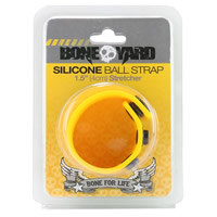 BoneYard Thick Silicone Cock Strap - Yellow