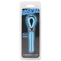 Rascal The Brawn GLOW Cock Single Leash Blue