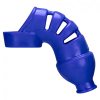 Hunkyjunk Lockdown Cage Chastity - Blue