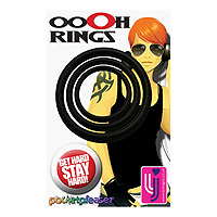 Set of 3 Black Ooh Rings
